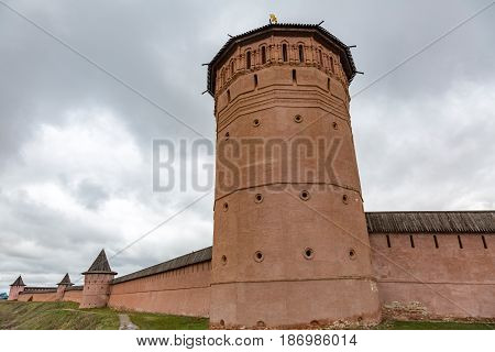 Walls And Towers Of The Spaso-evfimiy Monastery, Suzdal, Russia