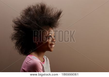Jamaican girl with unusual hair