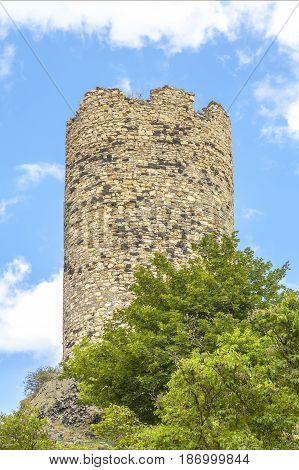 The medieval tower in the Czech Republic