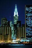 Midtown Manhattan skyline at Night, New York City poster