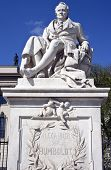 Alexander Von Humboldt Statue at the Humboldt University in Berlin. poster