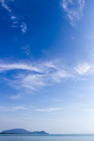 Beautiful blue sky and cloud on sunny day