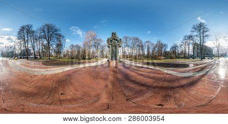 Druskininkai, Lituva - January 2019: Full Spherical Seamless Panorama 360 Degrees Angle View Near Mo
