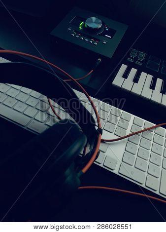 Music Producer kit. Production of electronic music