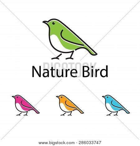 Cute Canary Bird Simple Logo Symbol Template
