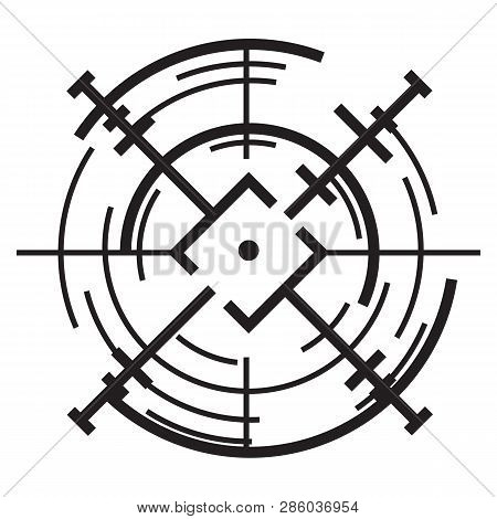 Scope aim icon. Simple illustration of scope aim vector icon for web design isolated on white background poster