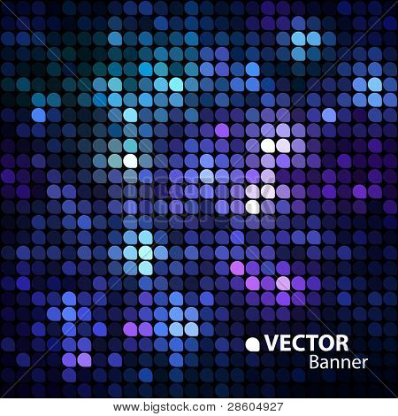 shiny vector banner poster