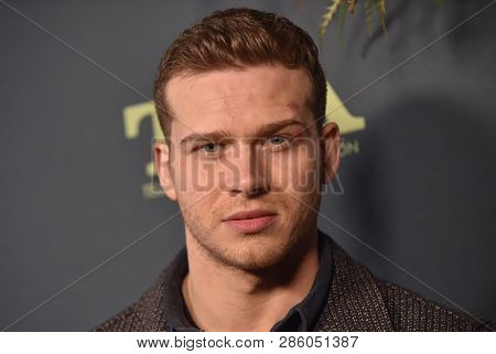LOS ANGELES - FEB 06:  Actor Oliver Stark arrives for the FOX Winter TCA 2019 on February 6, 2019 in Los Angeles, CA