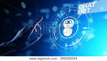 Chatbot Computer Program Designed For Conversation With Human Users Over The Internet. Support And C