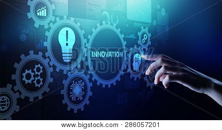Innovation Business And Technology Concept On Virtual Screen. Innovate Creative Process.