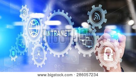 Intranet Business Corporate Communication Document Management System Dms. Privacy Cybersecurity Tech