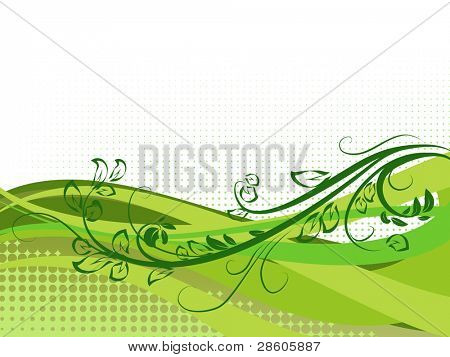 Vector background with elements of vegetable ornament