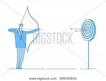 Man Shoots Bow  Arrow Vector & Photo (Free Trial) | Bigstock