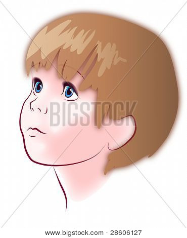 Vector illustration of a child