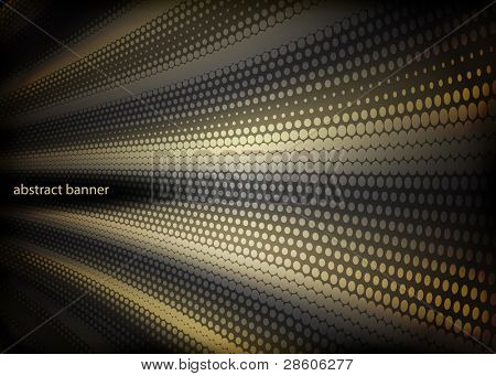 glowing abstract banner