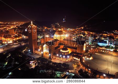 Aerial View Of The Shrine Of Nossa Senhora Da Aparecida, Aparecida, São Paulo, Brazil. Patroness Of
