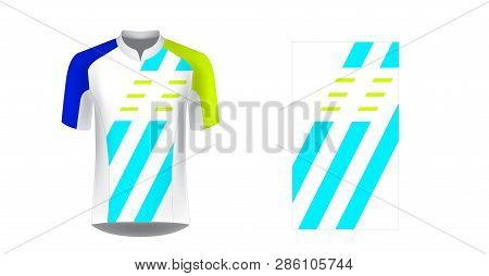 Cycling Uniform Templates. Gaming Casual Clothing Concept. Uniform For Racing, Cycling, Running, Tri