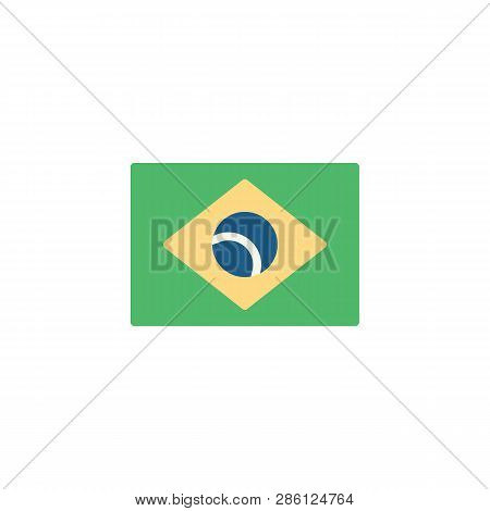 7124ac6fe6567 Flag Of Brazil Flat Icon