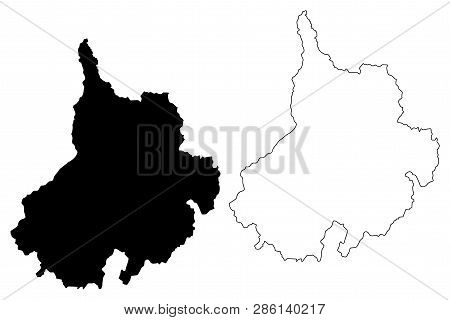 Santander Department (colombia, Republic Of Colombia, Departments Of Colombia) Map Vector Illustrati