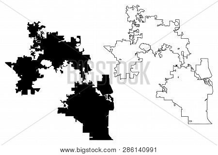 Orlando City (united States Cities, United States Of America, Usa City) Map Vector Illustration, Scr