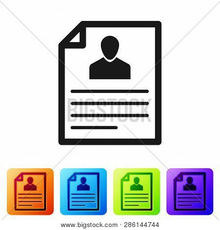 Grey Resume Icon Isolated On White Background. Cv Application. Searching Professional Staff. Analyzi