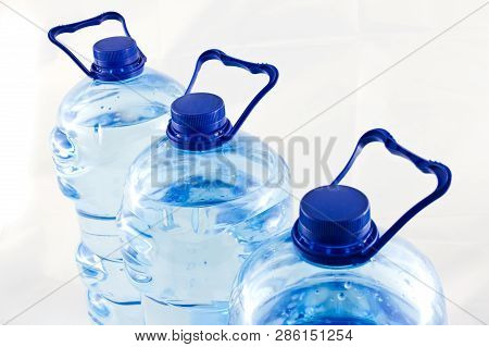 Plastic Five Litre Water Bottle Isolated