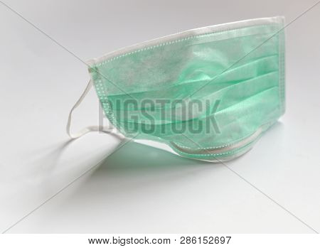 Heathcare Concept : Medical Or Protective Mask Isolated On White Background