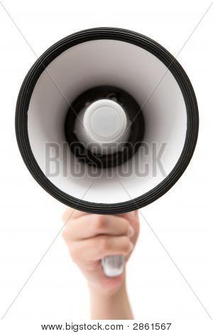 Holding A Megaphone