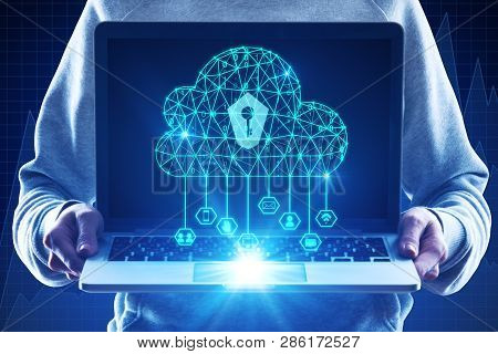 Cloud Computing And Web Safety Concept