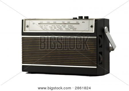 Old Fashion Retro Style Radio Isolated On White Background