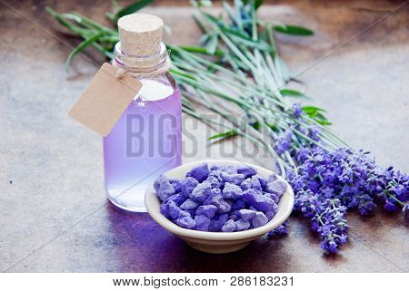 Aromatherapy Oil And Lavender, Lavender Spa, Wellness With Lavender, Lavender Scented Stones Lavende
