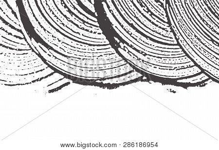 Grunge Texture. Distress Black Grey Rough Trace. Appealing Background. Noise Dirty Grunge Texture. E