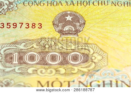 Detail Of A 1000 Vietnamese Dong Bank Note Obverse