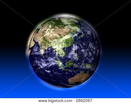 Earth Featuring Asia And Australia