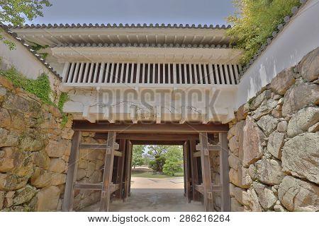 A Castle Tower At Okayama Castle Japan