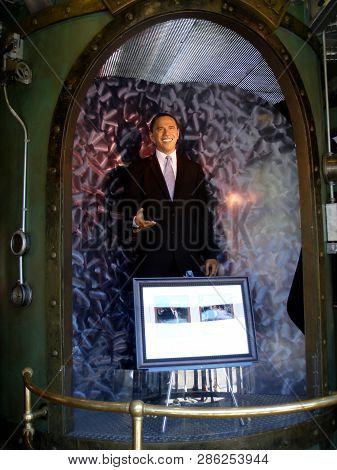 San Francisco - June 28, 2009: Wax Statue Of President Barak Obama On Display At Madame Tussauds San