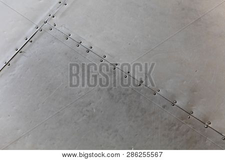 Old Metal With Rivets For Texture Background