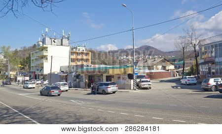 Loo, Krasnodar Krai, Russia- March 24, 2017: Landscapes Of The Village In Early Spring. Loo Is One O