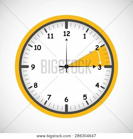 Standard Time After Advancing For Daylight Saving Time Summer Vector Illustration Eps10