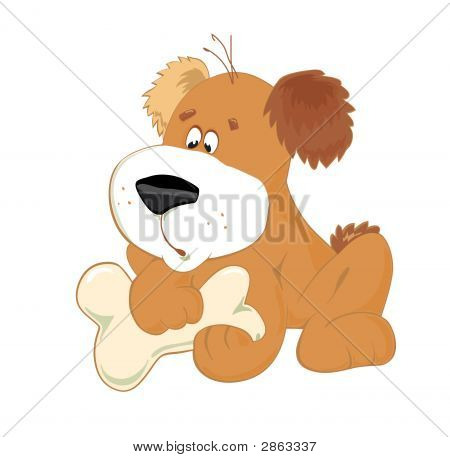Little Dog With Bone
