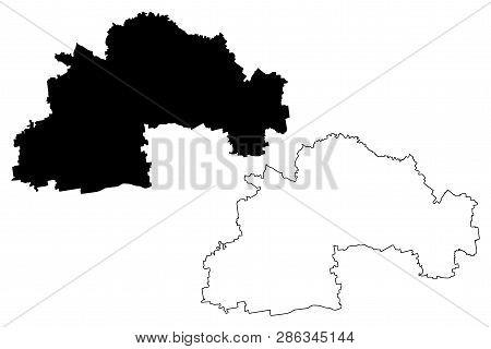 Dnipropetrovsk Oblast (administrative Divisions Of Ukraine, Oblasts Of Ukraine) Map Vector Illustrat