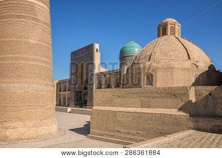 Fragment Of The Architectural Complex Poi-kalyan, Kalyan Minaret, Miri-arab Madrasah And Amir Alimkh