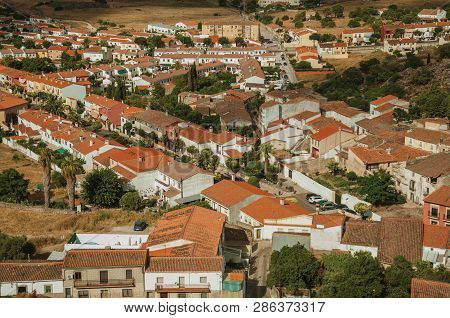 Roofs Of Houses And Streets In Rural Area At Trujillo