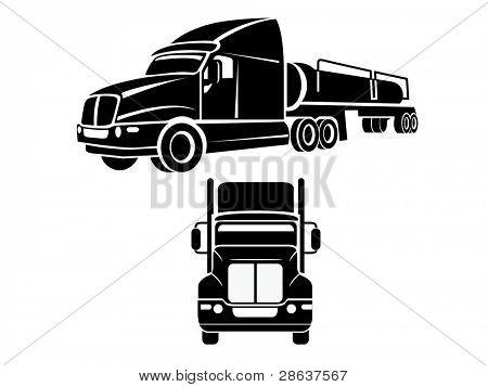 Cistern truck illustration