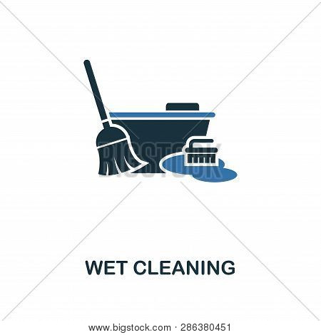 Wet Cleaning Icon. Creative Two Colors Design From Cleaning Icons Collection. Ui And Ux Usage. Illus