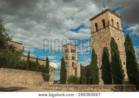 Facade Of Santa Maria La Mayor Church At Trujillo