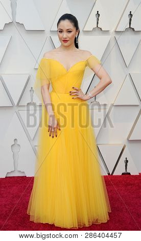 Constance Wu at the 91st Annual Academy Awards held at the Hollywood and Highland in Los Angeles, USA on February 24, 2019.