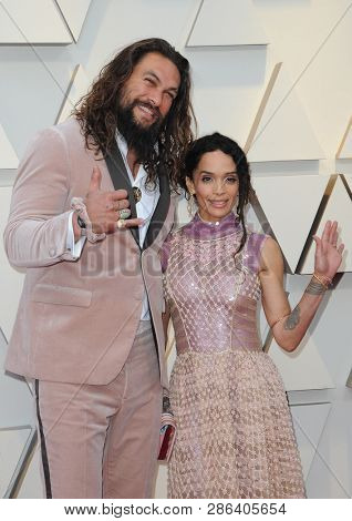 Lisa Bonet and Jason Momoa at the 91st Annual Academy Awards held at the Hollywood and Highland in Los Angeles, USA on February 24, 2019.