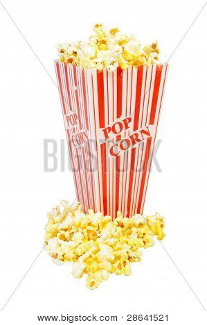 Overflowing Popcorn Container