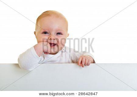 Happy infant girl